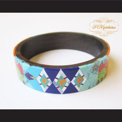 P Middleton Camagong Wood Bangle Elaborate Micro Inlay Design 12 - borizcustom - 3