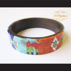 P Middleton Camagong Wood Bangle Elaborate Micro Inlay Design 12 - borizcustom - 4