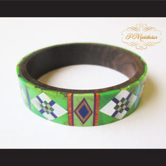 P Middleton Camagong Wood Bangle Elaborate Micro Inlay Design 4 - borizcustom - 3