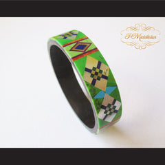 P Middleton Camagong Wood Bangle Elaborate Micro Inlay Design 4 - borizcustom - 5