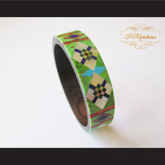 P Middleton Camagong Wood Bangle Elaborate Micro Inlay Design 4 - borizcustom - 6