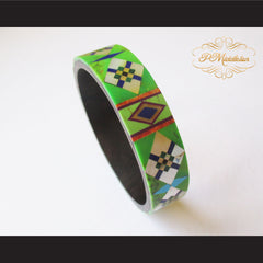 P Middleton Camagong Wood Bangle Elaborate Micro Inlay Design 4 - borizcustom - 7