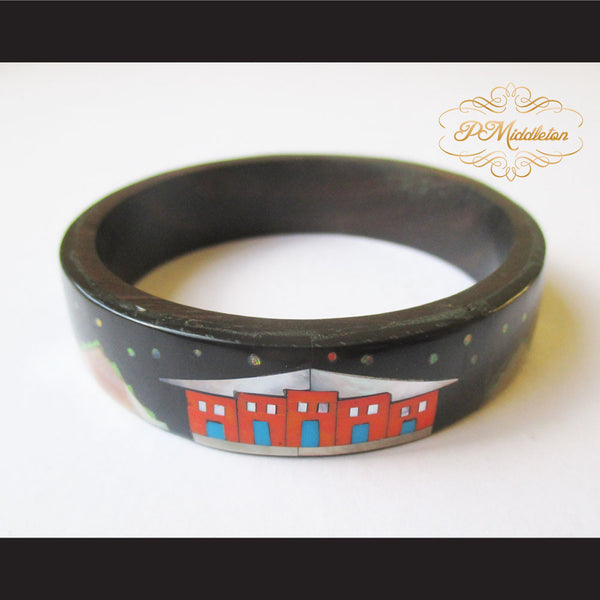 P Middleton Camagong Wood Bangle Elaborate Micro Inlay Design 8 - borizcustom