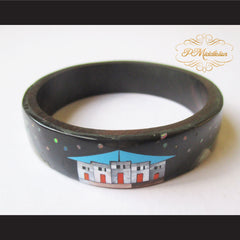 P Middleton Camagong Wood Bangle Elaborate Micro Inlay Design 8 - borizcustom - 2