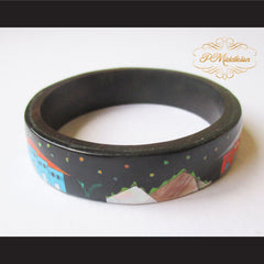 P Middleton Camagong Wood Bangle Elaborate Micro Inlay Design 8 - borizcustom - 5