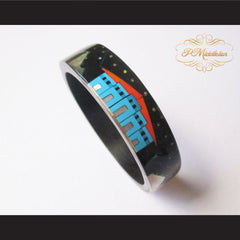 P Middleton Camagong Wood Bangle Elaborate Micro Inlay Design 8 - borizcustom - 6