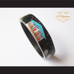 P Middleton Camagong Wood Bangle Elaborate Micro Inlay Design 8 - borizcustom - 7