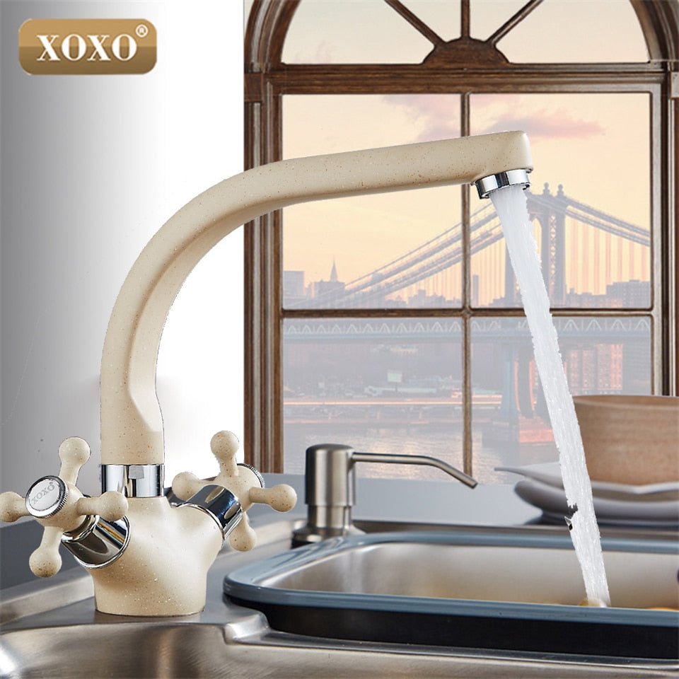 Xoxo New Multicolor Spray Painting Copper Kitchen Faucet Cold And Hot Borizcustom