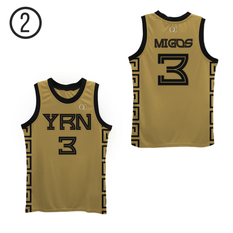 YRN Migos Basketball Jersey Colors