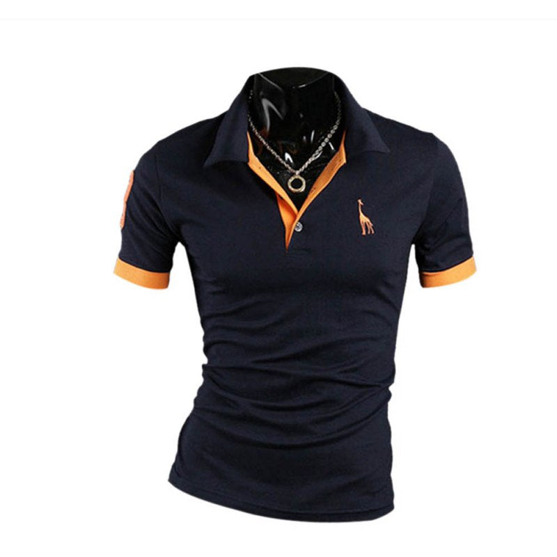 935bbd6eccea ... turn down collar 2018 summer casual shirt plus size. Product Image  fashion button polo shirt men solid slim fit short sleeve ...