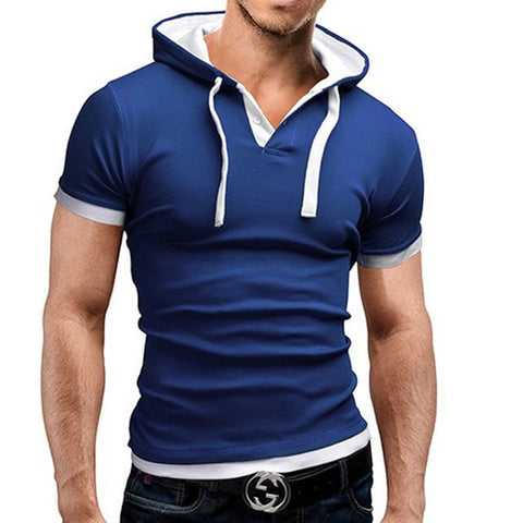 Brand 2018 Mens Polo Shirt Short-Sleeve Solid Poloshirt Men Polo Homme Slim Mens Clothing Camisas Hooded Camisa Polo Shirt 4XL