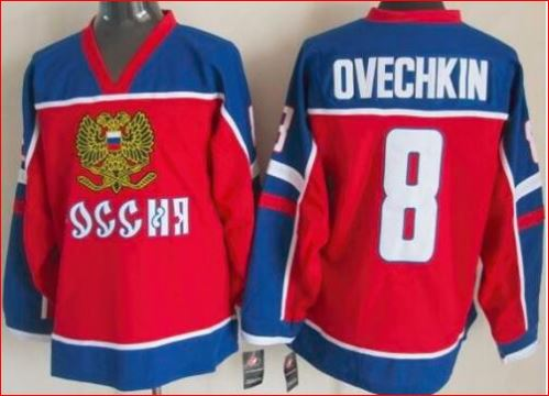 official photos d0ef8 a6301 Alexander Ovechkin 8 Russia National Team Red Hockey Jersey new white or red