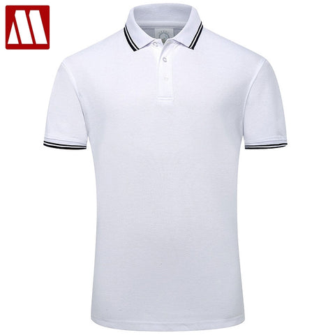 2018 Summer Style Cotton Man Polo Shirts Solid Color Short Sleeve Slim Breathable Famous Brand Men's Polos Shirts Male Tops XXXL