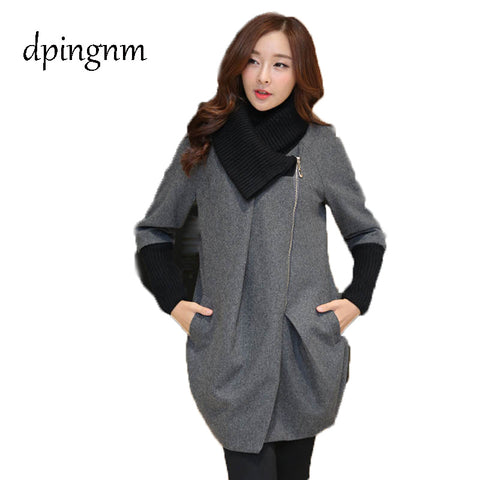 Woolen coat female Middle and long paragraph 2018 autumn and winter New style Korean thickening Woollen overcoat