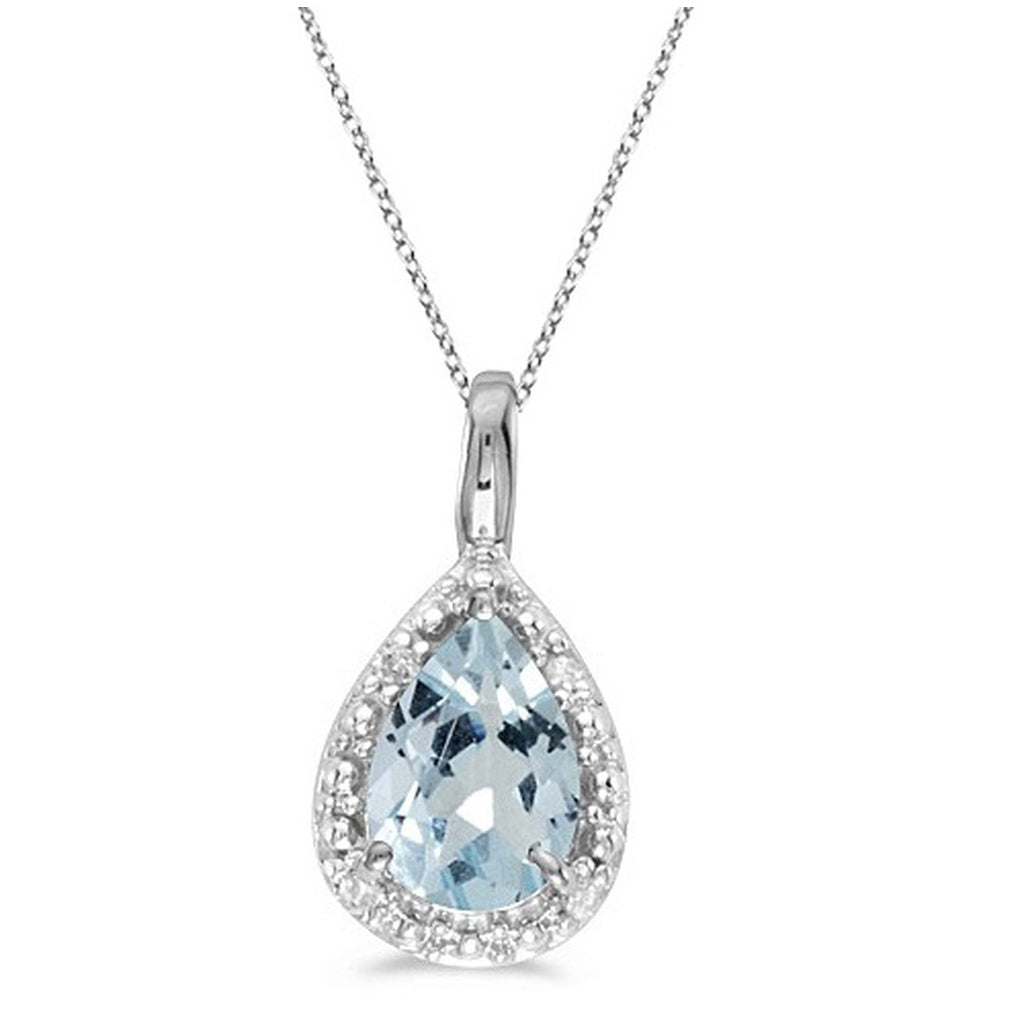 diamond illusion pear necklace shaped cluster set shape product look a like solitaire pendant for shpae women
