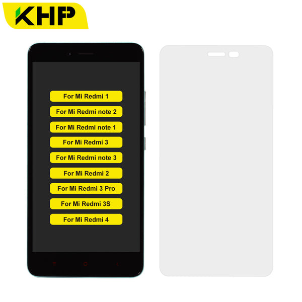 Original KHP Premium 0 3mm 9H Tempered Glass For Xiaomi Redmi Note 1 2 3 3S  3 Pro 4 LCD Screen Protector Film With Cleaning Kit