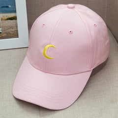 2017 Hot Sailor Moon crescent dad hat embroidered baseball caps Harajuku soft sister moon snapback cap Sun hat lovers wholesale