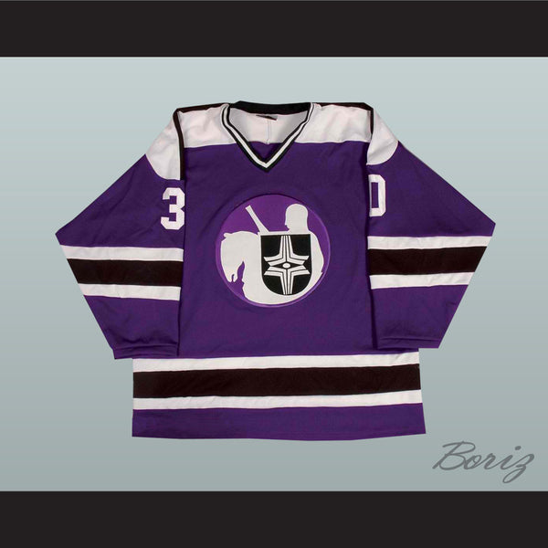 Gerry Cheevers WHA Cleveland Crusaders Hockey Jersey - borizcustom