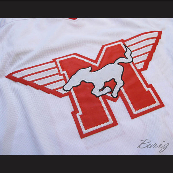 ... MUSTANGS Hockey Jersey Youngblood Movie Rob Lowe Sewn New All Sizes -  borizcustom ... bd18f3952c