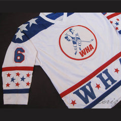 Michel Parizeau 1977 WHA All-Star Hockey Jersey Stitch Sewn - borizcustom