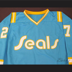 Hockey Legend Gilles Meloche 27 Hockey Jersey California Golden Seals - borizcustom - 3
