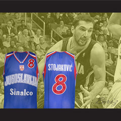 Peja Stojakovic 8 Yugoslavian Basketball Jersey Stitch Sewn New All Sizes - borizcustom - 3