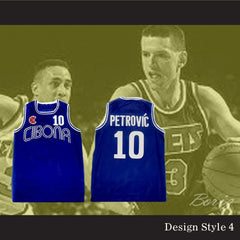 Drazen Petrovic Retro European Basketball Jersey New 4 Styles to Choose - borizcustom