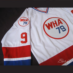 Gordie Howe 9 Hockey Jersey WHA 79 Stitch Sewn Any Size Any Name Any Number New - borizcustom - 4