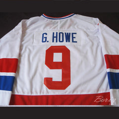 Gordie Howe 9 Hockey Jersey WHA 79 Stitch Sewn Any Size Any Name Any Number New - borizcustom - 5