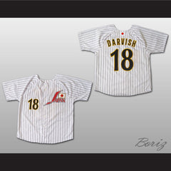 Pitcher Yu Darvish Japanese Baseball Jersey 18 Stitch Sewn New Any Size - borizcustom - 3