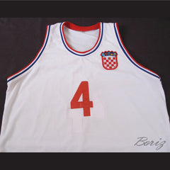 Drazen Petrovic 4 Retro Euro Basketball Jersey Croatia All Sizes New - borizcustom