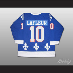 Guy LaFleur Hockey Jersey Quebec Nordiques Blue or White All Sizes - borizcustom - 2