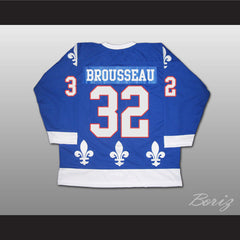 Paul Brousseau Hockey Jersey Quebec Nordiques 32 Blue or White Body Color - borizcustom - 2