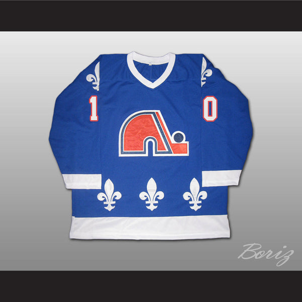 Guy LaFleur Hockey Jersey Quebec Nordiques Blue or White All Sizes - borizcustom