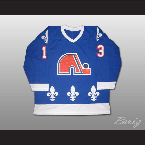 Mats Sundin Retro Hockey Jersey Quebec Nordiques 13 Blue or White Body Color - borizcustom