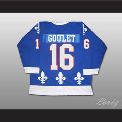Michel Goulet Hockey Jersey Quebec Nordiques 16 Blue or White Body Color - borizcustom