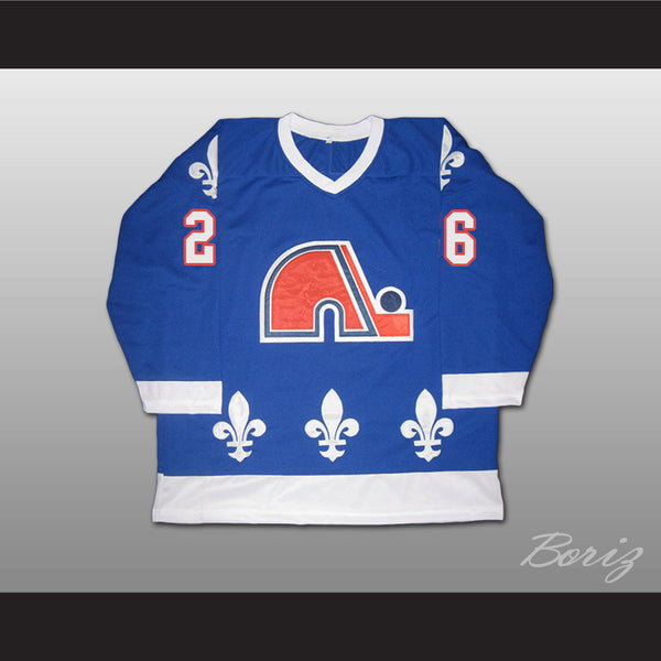 Peter Stastny Hockey Jersey Quebec Nordiques 26 Blue or White Body Color - borizcustom