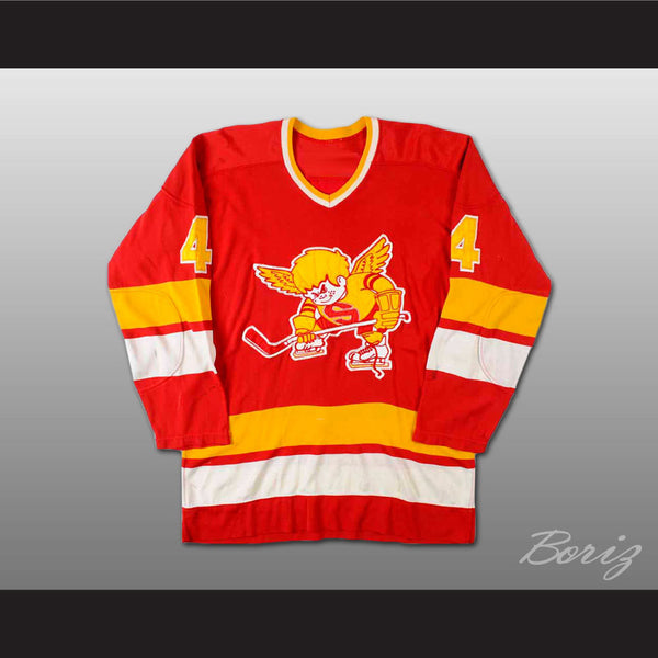 Ray McKay WHA Minnesota Fighting Saints Hockey Jersey Stitch Sewn New Any Size - borizcustom - 1