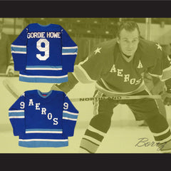 Gordie Howe 9 Retro Aeros Hockey Jersey Stitch Sewn All Sizes New - borizcustom - 3