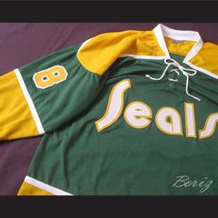 Walt McKechnie California Golden Seals Hockey Jersey Stitch Sewn New Any Player - borizcustom - 7
