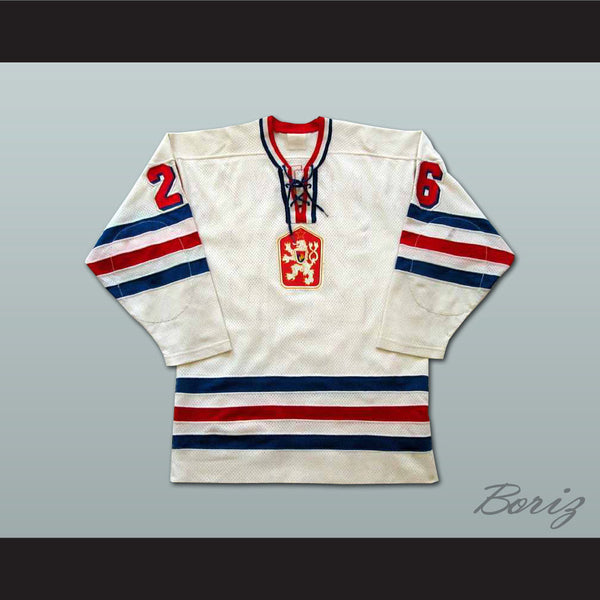 Peter Stastny Czechoslovakia Hockey Jersey NEW Stitch Sewn Any Size Any Player - borizcustom - 1