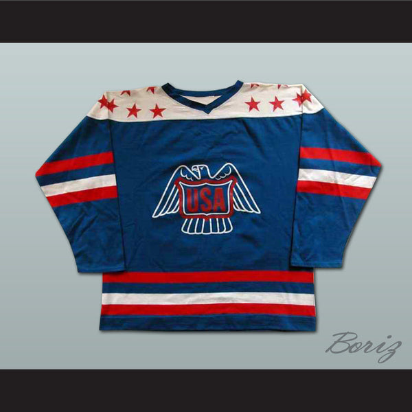 Lee Fogolin Team USA Canada Cup Hockey Jersey NEW Stitch Sewn Any Size or Player - borizcustom