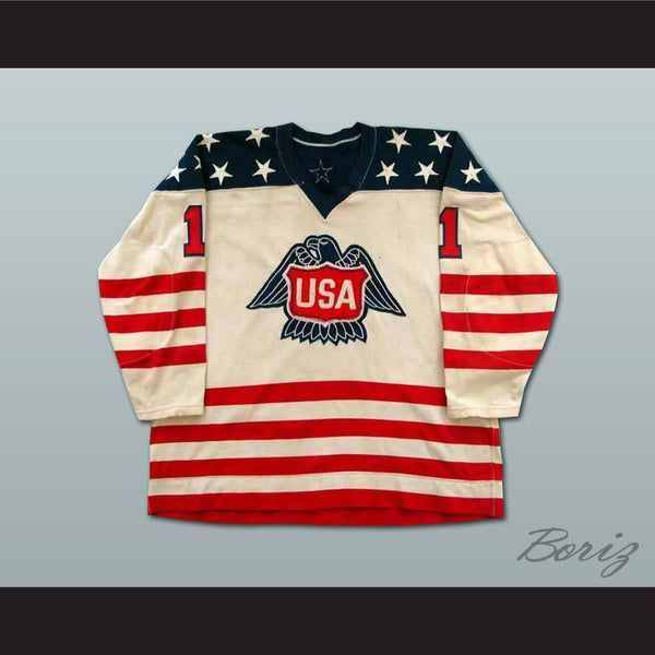 Pete Lopresti Team Usa Canada Cup Hockey Jersey NEW Stitch Sewn Any Size - borizcustom