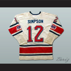 Tom Simpson Toronto Toros Hockey Jersey NEW Stitch Sewn Any Size or Player - borizcustom - 2