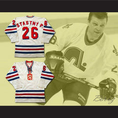 Peter Stastny Czechoslovakia Hockey Jersey NEW Stitch Sewn Any Size Any Player - borizcustom - 3