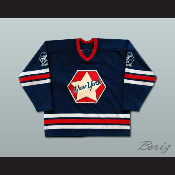 Ed Giacomin NY Original Six Oldtimers Hockey Jersey NEW Stitch Sewn Any Size - borizcustom