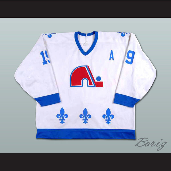 online retailer e6404 824a2 Joe Sakic Retro Hockey Jersey Quebec Nordiques 19 New Blue or White Body  Color