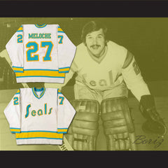 Gilles Meloche Hockey Jersey Stitch Sewn Shirt California Seals All Sizes New - borizcustom - 3