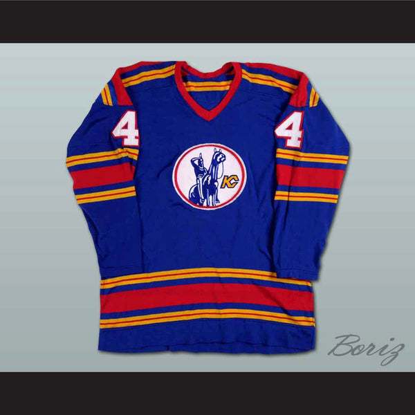 Bart Crashley Kansas City Scouts Hockey Jersey Stitch Sewn NEW Any Size - borizcustom
