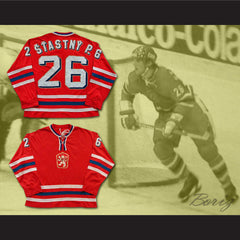 Peter Stastny 26 Czechoslovakia Hockey Jersey Stitch Sewn NEW Any Size or Player - borizcustom - 3